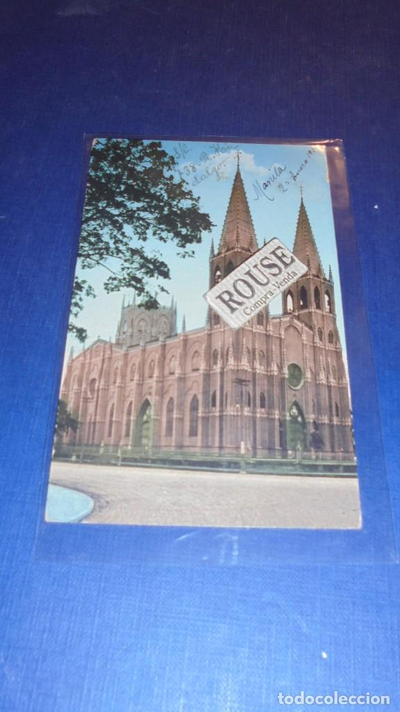 MANILA - SAN SEBASTIAN CHURCH.P.I. GOLDESTEINSMANILA P.I. POSTAL CIRCULADA 1921 (Postales - Postales Extranjero - Oceanía)