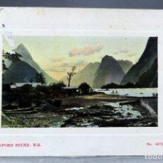 Postales: POSTAL MILFORD SOUND NEW ZEALAND PHOTO GUY Nº 4872 CIRCULADA 1911. Lote 169415312