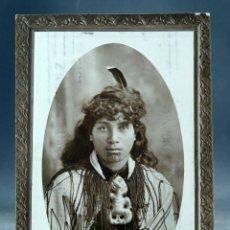Postales: POSTAL SUSAN MAORI GUIDE ROTORUA NEW ZELAND CIRCULADA SELLO 1913. Lote 169587932