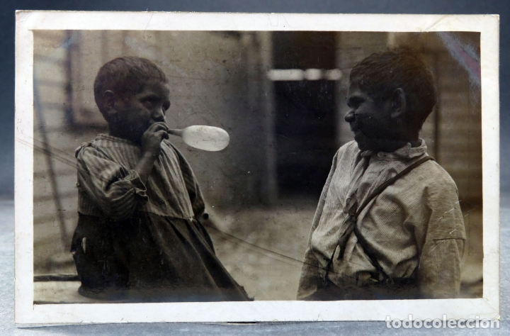 POSTAL FOTOGRÁFICA NIÑOS JUGANDO BAINRSDALE VICTORIA AUSTRALIA ESCRITA 1912 (Postales - Postales Extranjero - Oceanía)