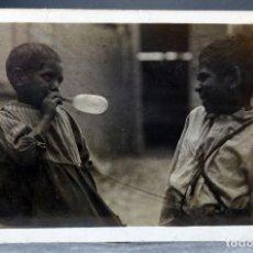 Postales: POSTAL FOTOGRÁFICA NIÑOS JUGANDO BAINRSDALE VICTORIA AUSTRALIA ESCRITA 1912. Lote 169588592