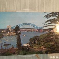 Postales: TARJETA POSTAL SYDNEY HARVOUR BRIDGE. ORIGINAL DE LA ÉPOCA EN 1965. Lote 172255144