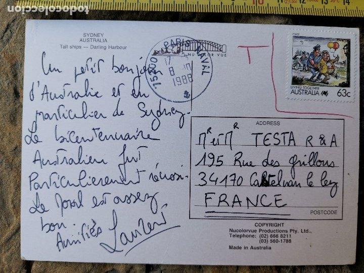 Postales: Postal de Sidney-Australia de 1988 - Foto 2 - 175639948