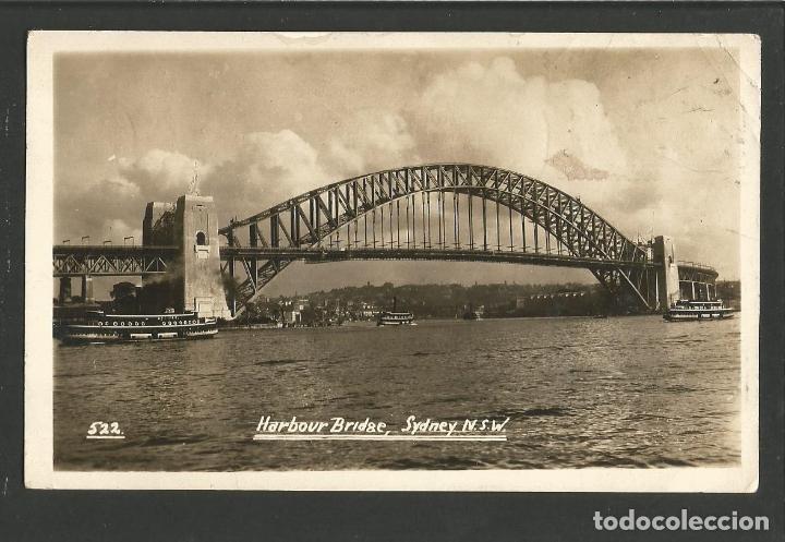 AUSTRALIA-SYDNEY-HARBOUR BRIDGE-PUENTE-FOTOGRAFICA-VER REVERSO-(62.034) (Postales - Postales Extranjero - Oceanía)