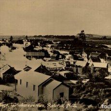 Postales: REAL PHOTO PC THE MAORI VILLAGE WHAKAREWAREWA ROTORUA NEW ZEALAND POST CARD. Lote 183332641