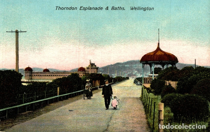 THORNDON ESPLANADE & BATHS, WELLINGTON NEW ZEALAND POST CARD (Postales - Postales Extranjero - Oceanía)