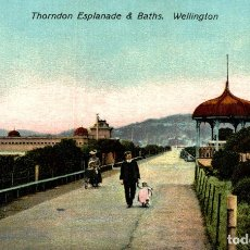 Postales: THORNDON ESPLANADE & BATHS, WELLINGTON NEW ZEALAND POST CARD. Lote 183334636