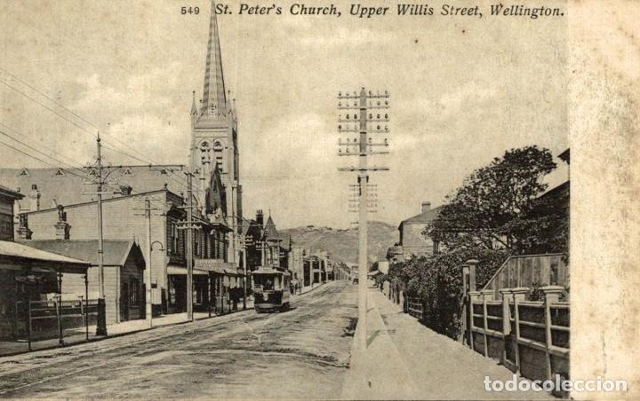 ST PETERS CHURCH,UPPER WILLIS STREET, WELLINGON NEW ZEALAND POST CARD (Postales - Postales Extranjero - Oceanía)