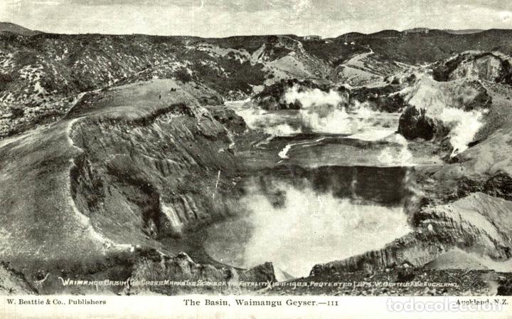 THE BASIN, WAIMANGU GEYSER NEW ZEALAND POST CARD (Postales - Postales Extranjero - Oceanía)