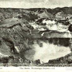 Postales: THE BASIN, WAIMANGU GEYSER NEW ZEALAND POST CARD. Lote 183334908