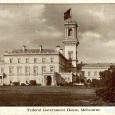 Postales: FEDERAL GOVERNMENT HOUSE MELBOURNE AUSTRALIA OCEANIA. Lote 184514252
