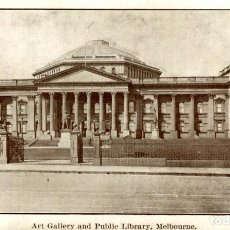 Postales: ART GALLERY AND PUBLIC LIBRARY MELBOURNE AUSTRALIA OCEANIA. Lote 184514272