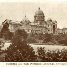 Postales: EXHIBITION AND STATE PARLIAMENT BUILDINGS MELBOURNE AUSTRALIA OCEANIA. Lote 184514392