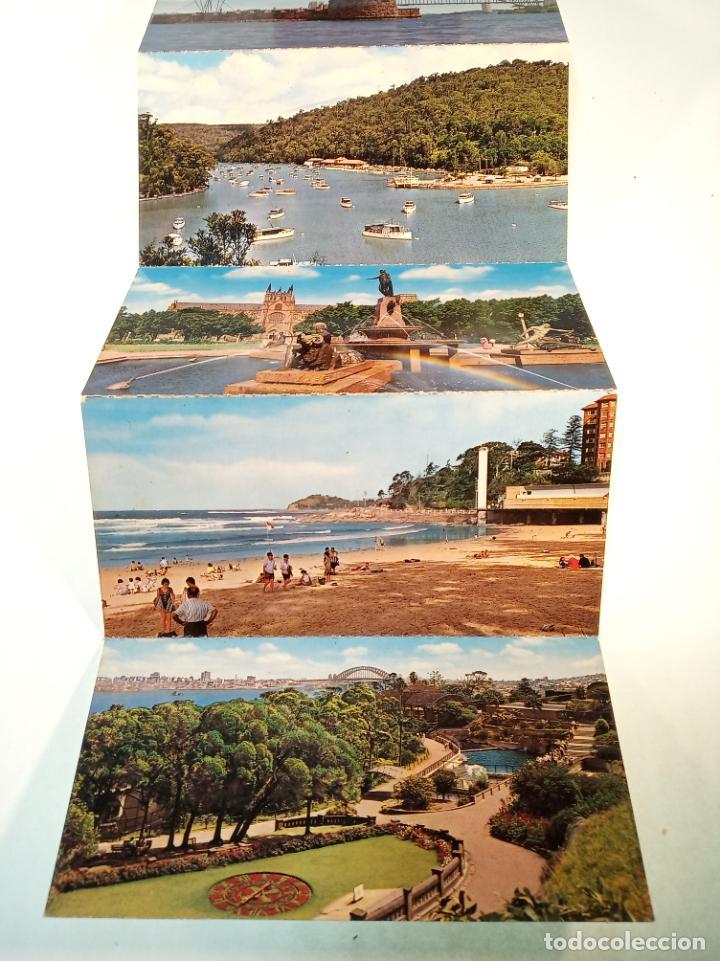 Postales: Serie de 12 postales unidas. Vistas de Sidney. Australia. Playas, monumentos,etc.. Sin circular. - Foto 2 - 190851975