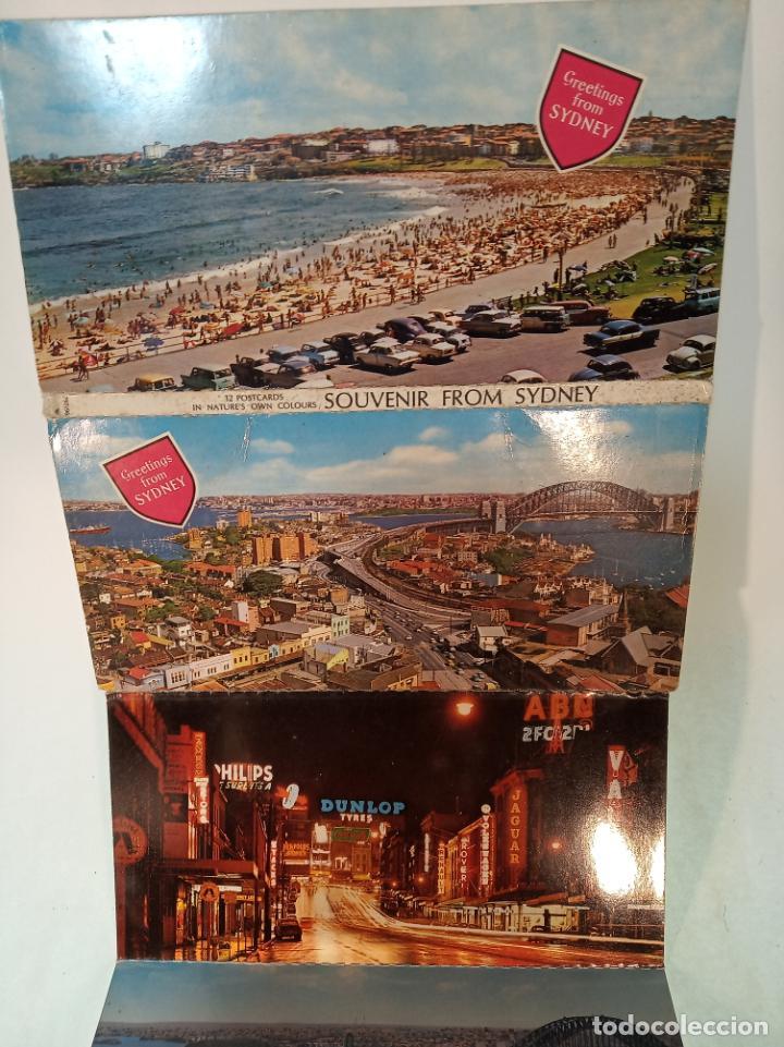 Postales: Serie de 12 postales unidas. Vistas de Sidney. Australia. Playas, monumentos,etc.. Sin circular. - Foto 4 - 190851975