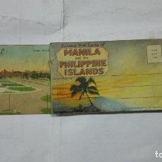 Postales: ALBUM 24 POSTALES RECUERDO DE MANILA Y LAS ISLAS FILIPINAS. Lote 192923515