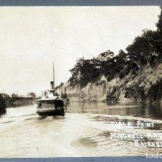 Postales: POSTAL FOTOGRÁFICA EARLE POINT MITCHELL RIVER BAIRNSDALE AUSTRALIA ESCRITA HACIA 1910 BARCO. Lote 193583772