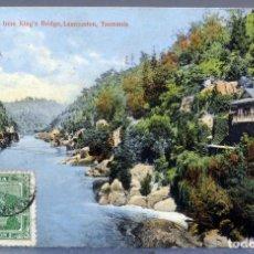 Postales: POSTAL CATARACT GORGE FROM KING'S BRIGDE LAUNCESTON TASMANIA CIRCULADA CON SELLO 1912. Lote 193584031