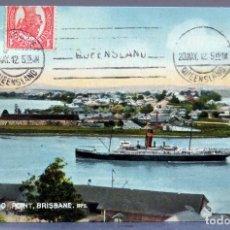 Postales: POSTAL KANGAROO POINT BRISBANE EDCO SERIES CIRCULADA CON SELLO 1912. Lote 193584151