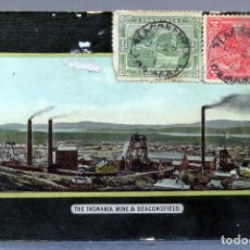 Postales: POSTAL THE TASMANIA MINE & BEACONSFIELD WE KERRISON CIRCULADA CON SELLO 1912. Lote 193584258