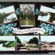 Postales: POSTAL GREETINGS FROM BAIRNSDALE 6 VISTAS AUSTRALIA ESCRITA 1912. Lote 193584337