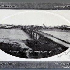 Postales: POSTAL SIDNEY ST BRIDGE MACKAY GC WOOD AUSTRALIA CIRCULADA CON SELLO 1911. Lote 193584432