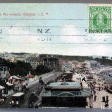 Postales: POSTAL HARRIS PROMENANDE DOUGLAS AUSTRALIA IOM CIRCULADA CON SELLO 1912. Lote 193584670