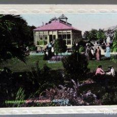 Postales: POSTAL FOTOGRÁFICA BENDIGO CONSERVATORY GARDENS ANIMADA AUSTRALIA CIRCULADA CON SELLO 1912. Lote 193585206