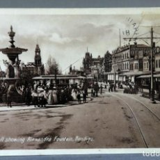 Postales: POSTAL FOTOGRÁFICA BENDIGO THE MALL SHOWING ALEXANDRA FOUNTAIN ANIMADA AUSTRALIA CIRCULADA 1912. Lote 193585292