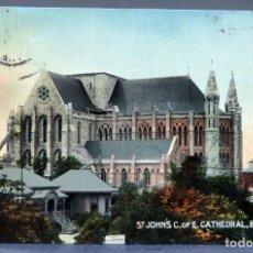 Postales: POSTAL ST JOHNS C OF E CATHEDRAL BRISBANE AUSTRALIA EDCO SERIES CIRCULADA 1912. Lote 193609700
