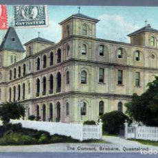 Postales: POSTAL THE CONVENT BRISBANE AUSTRALIA COLOURED SHELL SERIES CIRCULADA SELLO 1912. Lote 193609775
