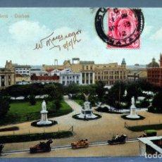 Postales: POSTAL DURBAN TOWN GARDENS SOUTH AFRICA A RITTENBERG CIRCULADA SELLO 1912. Lote 193611643