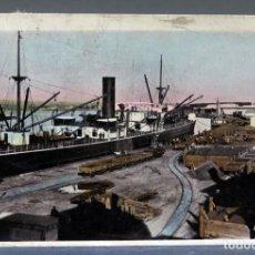 Postales: POSTAL FOTOGRÁFICA PORT PIRIE AUSTRALIA MUELLES PUERTO BUQUE ECLIPSE SERIES CIRCULADA SELLO 1912. Lote 193618202