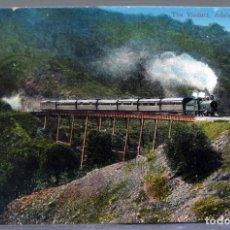 Postales: POSTAL THE VIADUCT ADELAIDE HILLS AUSTRALIA PASO TREN LOCOMOTORA VAPOR ESCRITA HACIA 1912. Lote 193618315