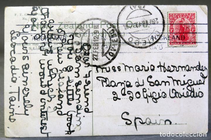 Postales: Postal Twilight Bay Port Pegasus Stewart Island New Zealand R Massey circulada sello 1912 - Foto 2 - 193618500