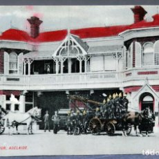 Postales: POSTAL ADELAIDE FIRE STATION ESTACIÓN BOMBEROS AUSTRALIA ESCRITA HACIA 1912. Lote 193618947