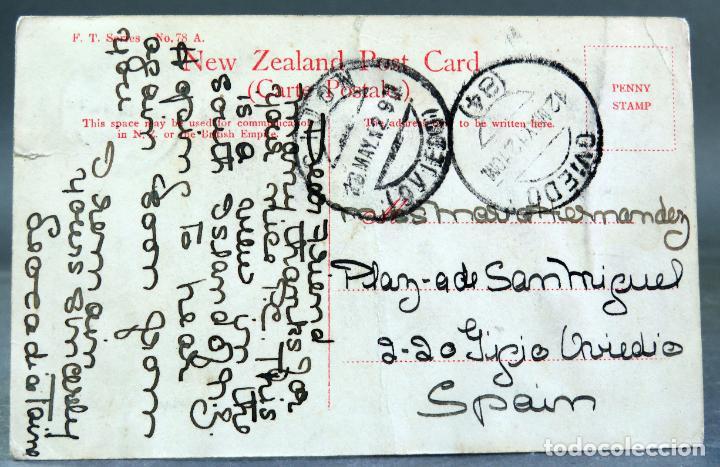 Postales: Postal fotográfica Hereford Street Bridge Christchurch New Zealand Nueva Zelanda circulad sello 1912 - Foto 2 - 195106577