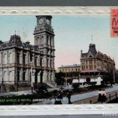 Postales: POSTAL FOTOGRÁFICA BENDIGO SHAMROCK ANIMADA AUSTRALIA CIRCULADA CON SELLO 1911. Lote 195302611