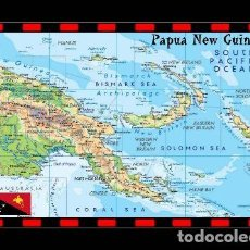 Postales: PAPUA NUEA GUINEA MAPA S/C. Lote 203724442