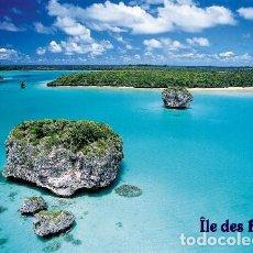 Postales: NUEVA CALEDONIA LAGUNA ISLA DE PINOS UNESCO S/C. Lote 203725342