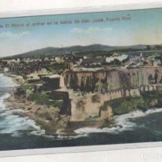 Postales: VISTA DE EL MORRO AL ENTRAR EN LA BAHIA DE SAN JUAN, PUERTO RICO. SIN CIRCULAR.. Lote 205017177