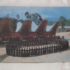 Postales: TIPICA DANZA FUNERARIA MA BADONG TANA TORAJA SUR SULAWESI MB-13 SIN CIRCULAR. Lote 206906491