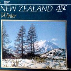 Postales: NUEVA ZELANDA. WINTER. MT. NGAURUHOE EN EL PARQUE NACIONAL TONGARIRO. NUEVA. COLOR. Lote 212322976