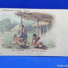 Postales: POSTAL DE COLECCION DEL JARABE ROCHE. CABANAS TAHITANAS (OCEANIA). Lote 217778826