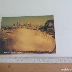 Postales: POSTAL AUSTRALIA HISTORIC AUSTRALIAN MOMENTS THE FALLS OR CULTURAL ISOLATION SIN CIRCULAR. POST CARD. Lote 218652793
