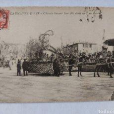 Postales: POSTAL FRANCIA 1909 D'AIX CARNAVAL. Lote 240029630