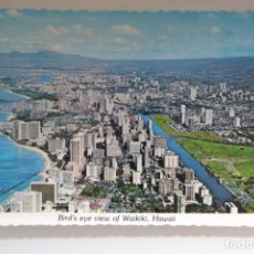 Postales: POSTAL. BIRD'S EYE VIEW OF WAIKIKI, HAWAI. ED. HAWAIIAN POSTCARD. NO ESCRITA. Lote 240608635
