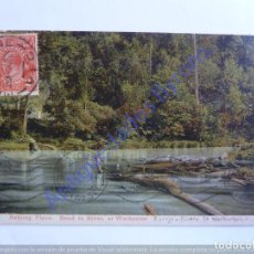 Postales: BATHING PLACE. BEND IN RIVER, AT WARBURTON. AUSTRALIA. Lote 240703575
