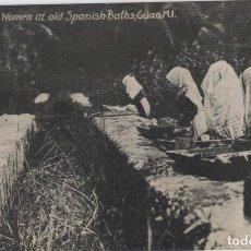 Postales: ISLAS MARIANAS,GUAM MUJERES LAVADORAS NATIVAS EN VIEJOS BAÑOS ESPAÑOLES. Lote 242473145