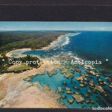 Postales: POSTAL DE NUEVA CALEDONIA - NOUVELLE CALEDONIE LE RÉCIF BARRIÈRE, LONGUEUR : 800 KM. Lote 252493335